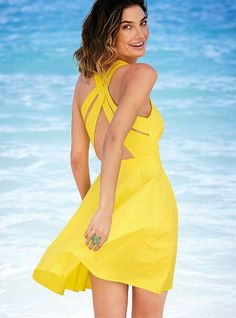 Cross back sundress from Victoria's Secret $69.50