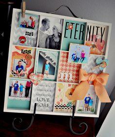 Cute DIY collage idea - DCWV Diary: August 2012