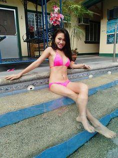 Sexy Filipina babe in pink bikini #pinay #philippines #girls #hot