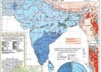 Indian peninsula by language.