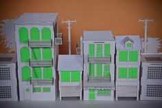 Tiny Cardboard City by jaredeberhardt, via Flickr