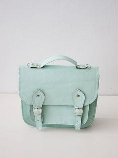 Love this light teal satchel!