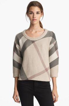 Burberry check sweater @Nordstrom