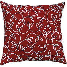 @Overstock - This Montgomery decorative pillow from Jovi is the perfect accent to any bed or couch. Inspired by handmade quilts, leaf detailing is stitched onto the red cotton of this pillow.http://www.overstock.com/Home-Garden/Jovi-Montgomery-Red-Decorative-Pillow/6428315/product.html?CID=214117 $33.49