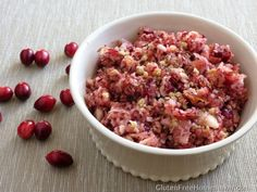 Cranberry Salad with apples and asian pears -- gluten-free, dairy-free, pale, vegan