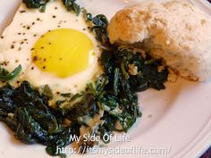 Recipe Challenge: Day 13 - Baked Eggs with Spinach & Buttermilk Biscuits