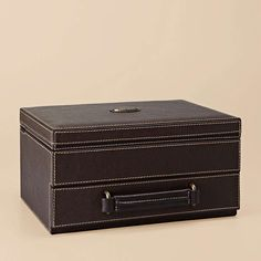 Estate 10pc Watchbox $158    For the watch enthusiast, we present our Estate watch box. This rich leather box is the perfect vintage-inspired way to store and carry your favorite timepieces.