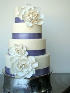 Lavender bands with sugar magnolia flowers by The Butter End