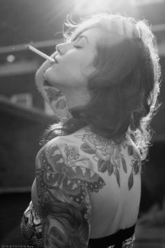 Tattoos in Black and white photo - #tattoo #tattoos #tat #bodyart #Ink #art #black #white @Mad4Clips #pinterest #butterflies #butterfly #classic