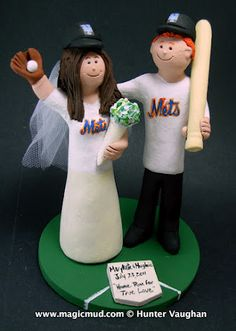 New York Mets Wedding Cake Topper.