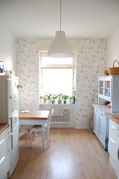 Pastel vintage eclectic floral kitchen love