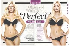 Heidi Montag, who now regrets having any of the surgeries!! She had some done in the first photo too!!