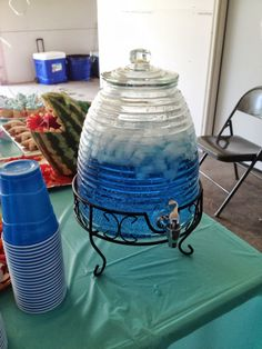 """Ocean Water"" for Finding Nemo Birthday Party.  Sprite & Blue food coloring"