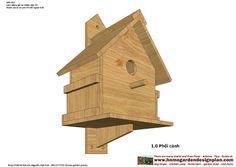 home garden plans: BH100 - Bird House Plans Free - Free Bird House Plans - How To Build A Bird House