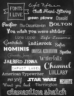 fonts I love from Bee in Our Bonnet