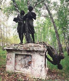 Forgotten statue in Russia
