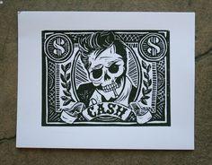 skull. johnny cash.