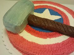 Captain America and Thor Birthday Cake! Julie this is awesome!!!! He would love this one!!!