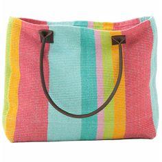 Red Barn Mercantile - Tiki Stripe Woven Cotton Tote Bag
