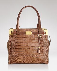 Michael Kors Satchel - Embossed Croc Blake - Premium Designers - Boutiques - Handbags - Bloomingdale's