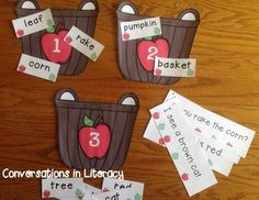 Fun Fall Literacy Centers!!  6 center activities with recording sheets and answer keys
