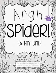 Argh Spider! {a mini unit}  - Pinned by @PediaStaff – Please Visit  ht.ly/63sNt for all our pediatric therapy pins