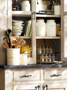 A place for everything in the kitchen. #potterybarn