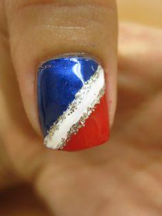 july 4th nail designs   4th of July Nail Design #5   LUUUX
