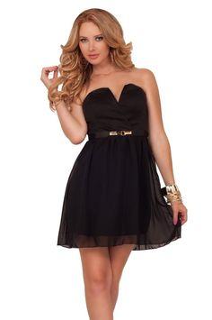 שמלת סטרפלס שחורה קצרה | Kiki★D | מרמלדה מרקט