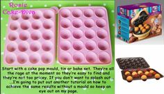 ~ silicone mould to make cake balls to bake inside a cake