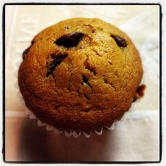 Delicious, soft and moist Chocolate Chip Muffin Recipe.  Perfect recipe for Fall and Wonter Season!