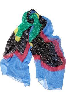 Jonathan Saunders printed silk-chiffon scarf