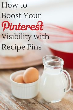 For any biz that serves or sells food - How to Boost Your Visibility with Recipe rich pins