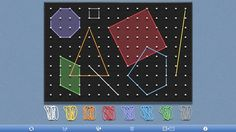The Geoboard // is a tool for exploring a variety of mathematical topics introduced in the elementary and middle grades. Learners stretch bands around pegs to form line segments and polygons and make discoveries about perimeter, area, angles, congruence, fractions, and more.