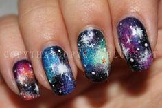 cats, challenges, galaxies, far away, cops, colors, nail arts, galaxi nail, galaxy nails