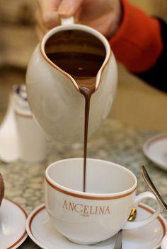 Chocolat Chaud at Angelina's, Paris, France