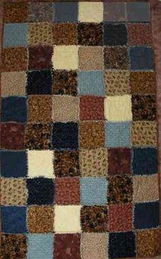 Flannel Rag Lap Quilt