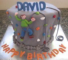 Rock Climbing Cake. I know this is for a kid and all but I'm probably gonna do it for Zac hahaha