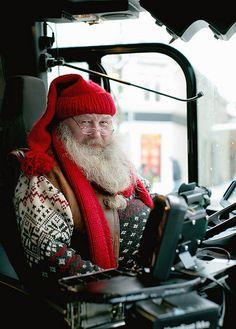Santa driving a bus in Norway  #Santa