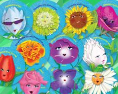Daisy Girl Scout Flower Friend stickers; help Daisies learn the Girl Scout Law