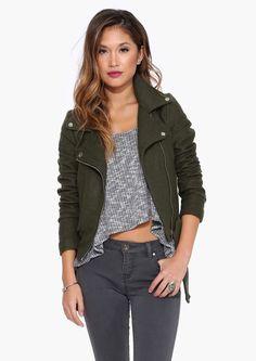 wool moto jacket.