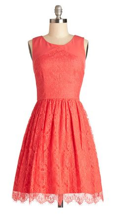 Pop of coral