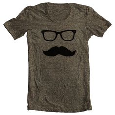 Mustache Wayfarer Men's Women's T shirt by FullSpectrumClothing, $21.00