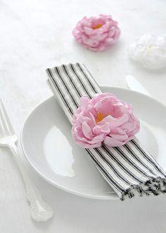 DIY Fabric Peony Flowers