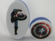 Avengers fans will love this soap with Captain of America image by Butters and Bubbles birthday presents, birthday parti, brandon birthday, avengers birthday, boy birthday, soap creation
