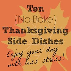 10 No-Bake Thanksgiv