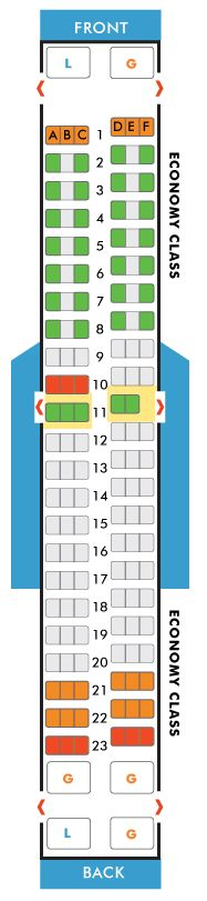 southwest airlines boeing 737-300 seating map aircraft chart
