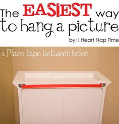 easy hanging picture instructions