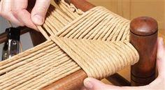 Плетеная мебель своими руками из каната 18