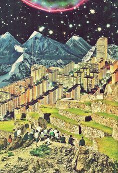 collage city, collag landscap, art lesson, art prints, collag barrag, citi, collage landscape, layer art, general art